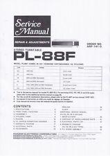 Service Manual-Anleitung für Pioneer PL-88 F