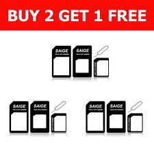 Nano Sim Adapter,Nano SIM card to Micro SIM & Standard SIM adapters for iPhone 5