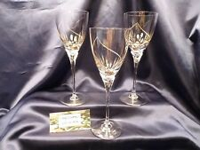 Mikasa Crystal RAPTURE Wine Glass Goblet Gold Filled Set of Three