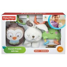 Fisher-Price Forest Friends Gift Set Baby Infant Baby Toy Rattles Plush Animals