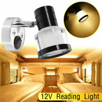 Reading Warm Light LED 12V Interior Spot Wall Light For Camper Van Caravan Boat