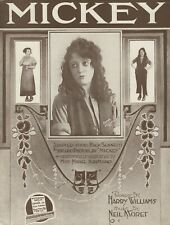 "Mabel Normand ""MACK and MABEL"" Hollywood Silent Film Star 1918 Movie Sheet Music"