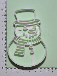 Snowman Cookie or fondant  Cutter 3d printed