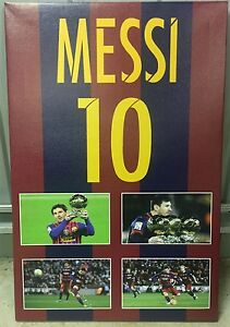Lionel Messi Barcelona FC Canvas Print World Cup Soccer Football Argentina Spain