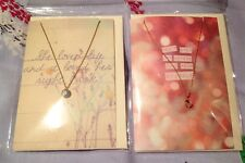 2 X ORELIA SWAROVSKI CRYSTAL PENDANT NECKLACE & GIFT CARD JEWELLERY RRP £15 EACH