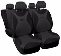 Full set car seat covers fit Ford Mondeo - black/grey