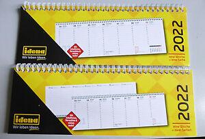 Idena Tischkalender 2022 Querkalender Terminplaner 1Woche - 1 Seite