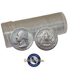 $10 Face Value Washington Quarters 90% Silver 40-Coin Roll (Circulated)