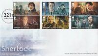 GB Stamps 2020 Sherlock FDC 221B London Handstamp