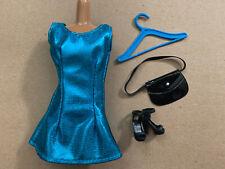 Barbie Doll Set, Dress, Shoes & Accessories Lot Fashion Outfit Vintage Purse
