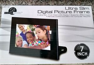 "Digital Decor DPF710 Ultra Slim Digital Photo - 7"" Picture Frame"