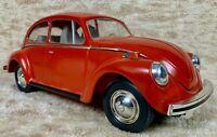 **VTG 1972 JIM BEAM VW VOLKSWAGEN RED BEETLE BUG WHISKEY DECANTER BARWARE EMPTY*