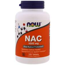 NOW Foods NAC 1000mg 120 tablets N-ACETYL CYSTEINE | POWERFUL ANTIOXIDANT