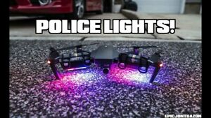 2 Pack Police STROBE Anti Collision Lights for DJI Mavic 2 Pro & Mavic 2 Zoom