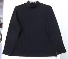 Studio Works Plus Size 1X Black mock turtleneck, long sleeve NWT