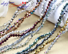 150 pcs 4mm Crystal Bicone/Roundel Loose Beads metallic luster color Clearance