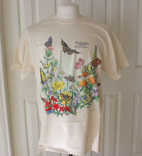 Wildflower Butterfly T Shirt Wildflower Center Lady Bird Johnson Austin TX Sz. L