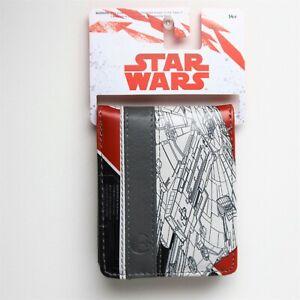 ThinkGeek Exclusive Star Wars Millennium Falcon Red Bi-Fold Wallet ~ NEW w/ Tag