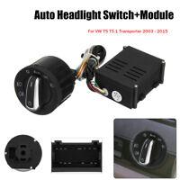 Car Auto Headlight Fog Light Switch Module Upgrade for VW T5 T5.1 Transporter AU