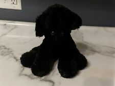 """Adorable HTF 8"""" Black Lab First & Main PUP E DOG Plush Puppy Red Collar #3314 *"""