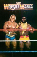 "Wrestlemania 1 Poster WWF HULK HOGAN MR T (12""x18"") Photo Print WWE WCW PIPER"