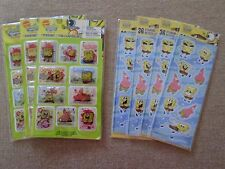 Lot of 7 New Packages of Sponge Bob Stickers Two Types by American Greetings
