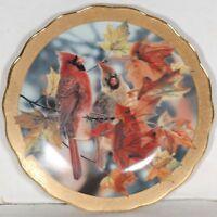 """Bradford Exchange """"Autumn Mirage"""" collector plate by Janene Grende NIB [am2]"""