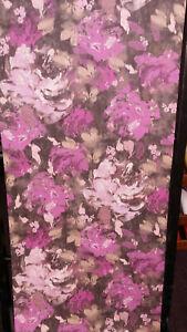 Studio Wallpaper, Purple, Pink & Fawn, Floral, Hessian/Textured Wallpaper