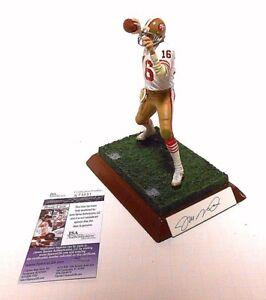 JSA JOE MONTANA Autographed Signed Football Custom McFarlane Figure SF 49ers