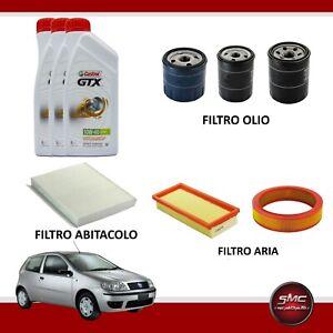 Kit tagliando Lancia Ypsilon 1.2 benzina 44 e 51 kw + 3lt olio castrol gtx 10W40
