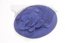 Ladies Blue Black Netted Hair Piece With String Retro Artsy French Design (s249)