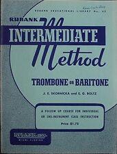 Trombone Or Baritone Intermediate Method Book, 1938