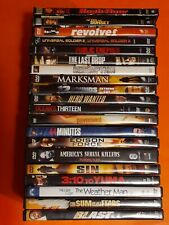 Dvd Lot Of 20 Action Dvds Various Conditions Untested!