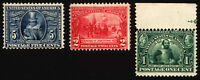 #328-#330 1c-5c 1907 Jamestown Mint Set CV $250+