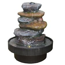 Small Indoor Stone Slab Effect Water Fountain With LED Light. New