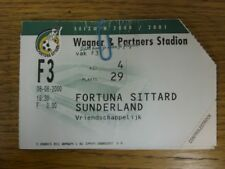 08/08/2000 Ticket: Fortuna Sittard v Sunderland [Pre-Season Friendly] (folded/cr