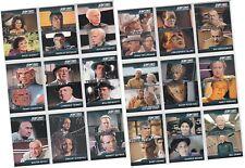 Complete Star Trek TNG Series 1 Mini Master Set - 90 Basic & 3 Chase - 130 Cards
