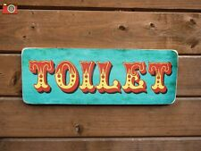 """A VINTAGE LOOK FAIRGROUND CIRCUS """"TOILET"""" SIGN / PICTURE. GREAT FUN ITEM"""