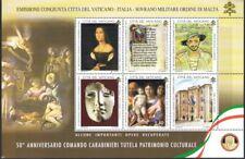 2019 Vaticano - Foglietto 50° Anniversario Comando Carabinieri Tutela Patrimo...