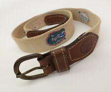 Florida Gators Canvas Belt 36 Eagle UF University Of Tan Vtg Leather Made in USA