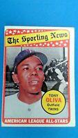 1969 Topps Tony Oliva Minnesota Twins A.L All Star Baseball Card # 427