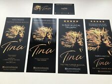 4 X Different flyer + 2 Small Cards TINA the TINA TURNER Musical London