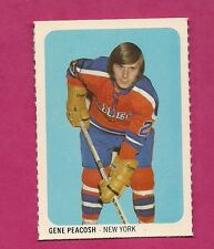 RARE 1973-74 WHA QUAKER OATES RAIDERS GENE PEACOSH MINI CARD (INV#2250)