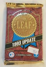 1993 Leaf Update Foil Pack MLB Baseball BUY ONE GET ONE FREE