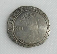 Collectable 1603-25 King James I Silver Shilling Coin - Mint Mark Lis