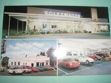 Volkswagen Vw car dealer dealership auto 1960's Philadelphia postcard porsche