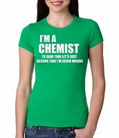 Chemist T-shirt Gift For Chemist Lady T-shirt Funny Women T-shirt