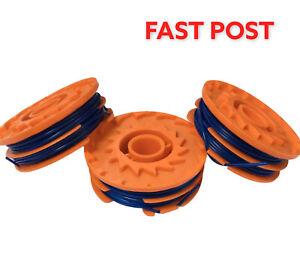 3 x Spool & Line For McGregor MET3525 MET4530 MET6032 Grass Trimmer FAST POST