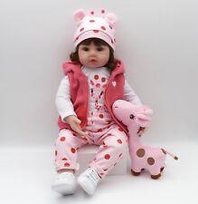 "18""Newborn Doll Real Lifelike  Silicone Reborn Baby Dolls Toddler Girl Xmas Gift"