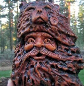 Wood Spirit Carving Bear Mountain Man Muzzle Loader Old West Western Sculpture